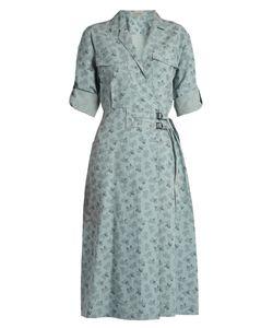 Bottega Veneta | Butterfly-Print Cotton-Blend Dress