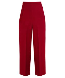 Roland Mouret | Ward High-Rise Wool-Crepe Cropped Trousers