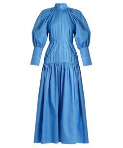 Ellery   Sword Bubble-Sleeved Cotton-Blend Maxi Dress