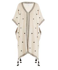 Velvet by Graham & Spencer | Aubree Embroidered Cotton-Gauze Midi Dress