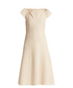 Bottega Veneta | Boat-Neck Wool-Crepe Midi Dress