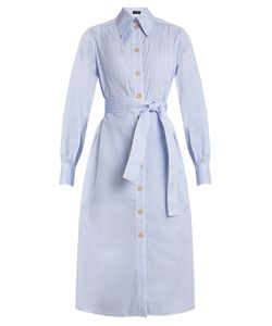 Joseph   Arden Striped Cotton Shirtdress
