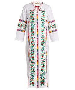 MUZUNGU SISTERS | Jasmine Vine Embroidered Cotton Dress