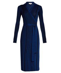 Diane Von Furstenberg | Striped Ribbed-Knit Dress