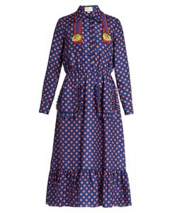 Gucci | Polka-Dot Print Silk Dress