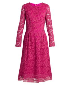 Adam Lippes | Long-Sleeved Guipure-Lace Cotton-Blend Dress