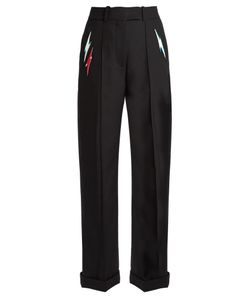 RACIL | Starman Lightning-Bolt Appliqué Trousers