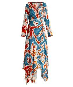 Peter Pilotto | -Print Velvet Wrap Dress