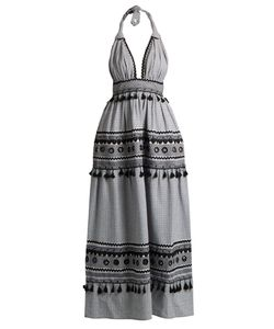 DODO BAR OR | David Halterneck Cotton Maxi Dress