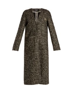 Rochas | V-Neck Wool-Blend Bouclé Coat