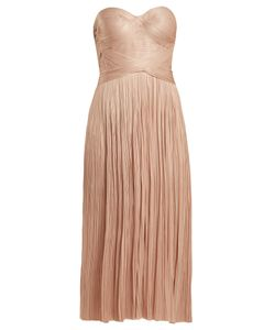 Maria Lucia Hohan | Aziyade Strapless Pleated Tulle Dress