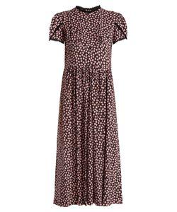 Miu Miu | Primula-Print Tulip-Sleeve Crepe Dress