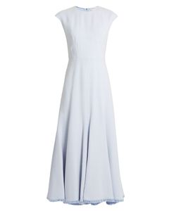 Gabriela Hearst | Crowther Fluted-Hem Crepe Dress