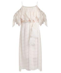 No. 21 | Off-The-Shoulder Ruffled Chiffon Midi Dress