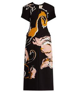 ROKSANDA | Akemi Horse-Print Silk Midi Dress