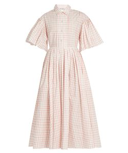 Vika Gazinskaya | Checked Cotton-Poplin Dress