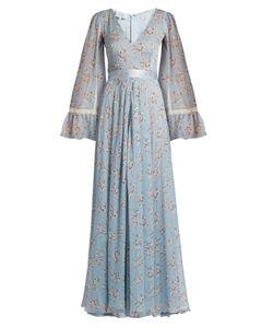 Luisa Beccaria | -Print Silk-Chiffon Gown