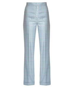Gabriela Hearst | Shipton Silk And Wool-Blend Checked Trousers