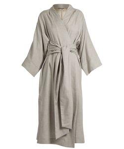 THREE GRACES LONDON | Isabella Kimono-Sleeve Cotton-Blend Robe