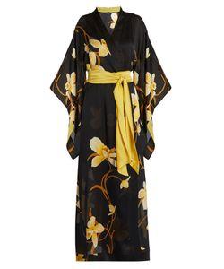 Carine Gilson | Orchid-Print Silk-Satin Robe