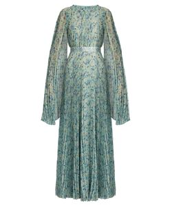 Luisa Beccaria | -Print Pleated Silk-Chiffon Gown