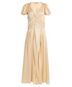 ATTICO | Natalia V-Neck Silk-Satin Dress