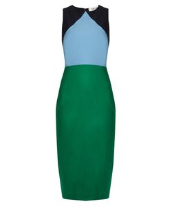 Diane Von Furstenberg | Colour-Block Stretch-Wool Dress