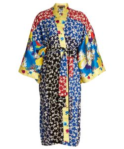 Duro Olowu | Nina Contrast-Panel Silk And Crepe Kimono Dress