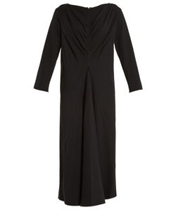 LEMAIRE | Pleated-Front Wool-Blend Dress