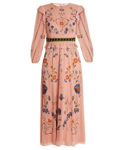 Red Valentino   -Print Silk-Blend Georgette Dress