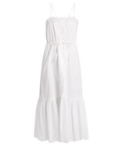Mes Demoiselles | Cute Square-Neck Cotton Midi Dress