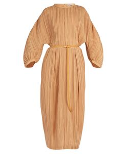 Jil Sander   Carillon Zip-Front Pleated Silk Dress