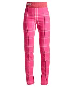 Fendi | High-Rise Checked Trousers
