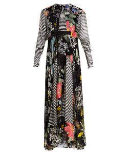 Preen By Thornton Bregazzi | Audrey Contrast-Print Devoré Dress