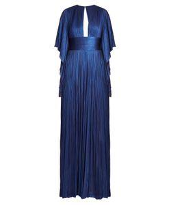 Maria Lucia Hohan   Nadina Kimono-Sleeve Pleated Tulle Gown