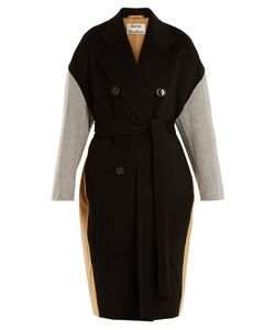 Acne | Cales Colour-Block Double-Breasted Wool-Blend Coat