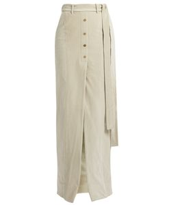 PALMER/HARDING | Waist-Tie Stretch-Cotton Corduroy Maxi Skirt