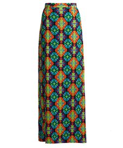Andrew Gn | Geometric-Print Silk-Crepe Maxi Skirt