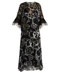 Preen By Thornton Bregazzi | Adora Pentacle-Print Devoré Dress