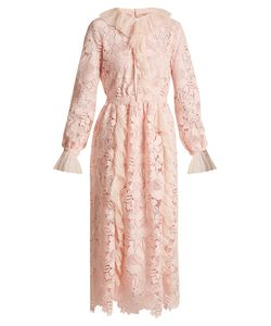 No. 21 | Ruffle-Trimmed Long-Sleeved Guipure-Lace Dress
