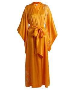 Carine Gilson | Lace-Appliqué Silk-Satin Robe