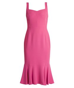 Dolce & Gabbana   Sweetheart-Neck Cady Midi Dress
