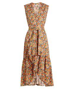 Rebecca Taylor | Moonlight Garden Cotton-Poplin Wrap Dress