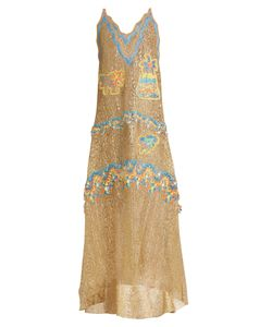 Peter Pilotto | Palm Tree-Embroidered Guipure-Lace Gown