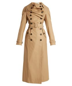 A.W.A.K.E.   Double-Breasted Cotton Trench Coat
