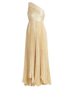 Maria Lucia Hohan | Atheer One-Shoulder Pleated Silk-Blend Gown