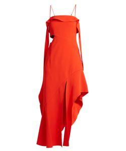 Jonathan Simkhai | Ruffled Bias-Cut Stretch-Crepe Dress