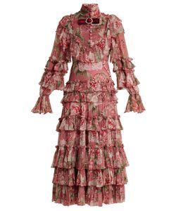 Gucci | Ruffled Silk-Georgette Gown