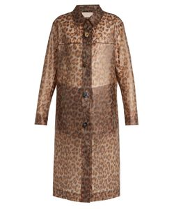 Christopher Kane | Leopard-Print Frosted Rubberised Coat