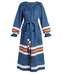Vita Kin | Maldives Striped Mid-Weight Linen Dress